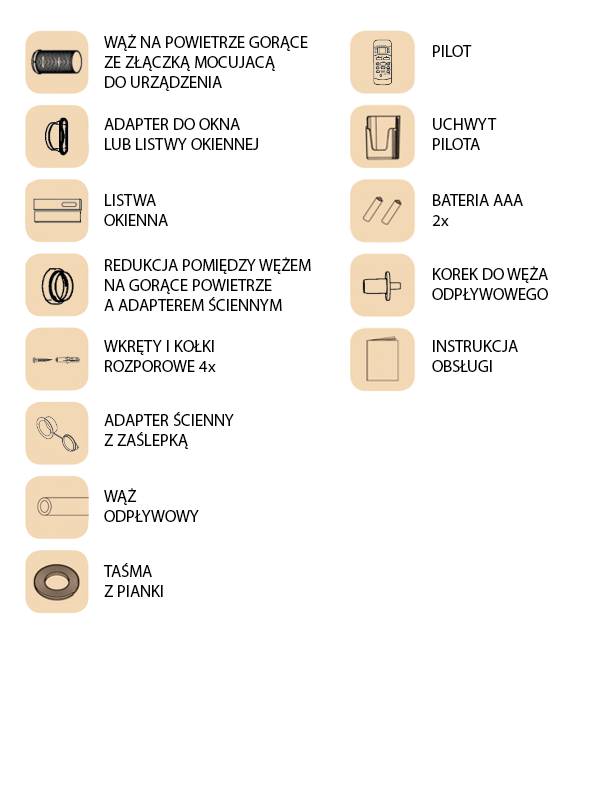 APM-12AN1 accessories